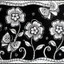 Pen-Patterned-flowers