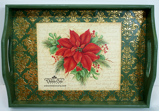 Debbie-COle-poinsettia-tray